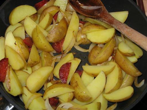 Bratkartoffeln mit Chorizo