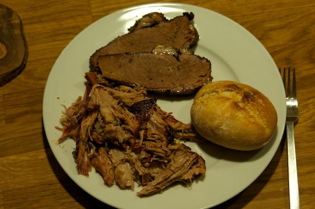 Schnelles Pulled Pork und Beef Brisket