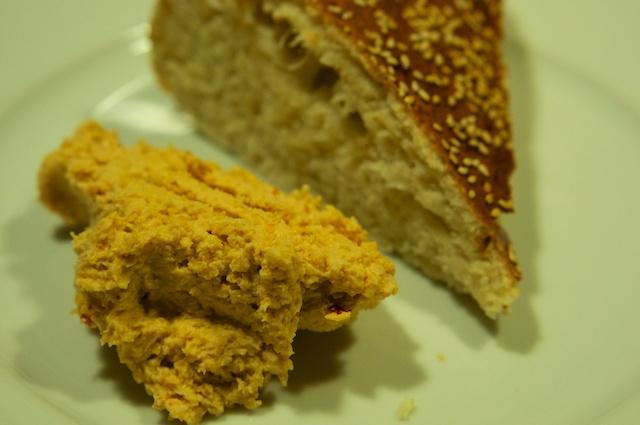 Hummus (Kichererbsenpaste) mit Fladenbrot