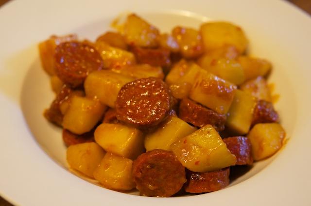 Kartoffeln mit Chorizo