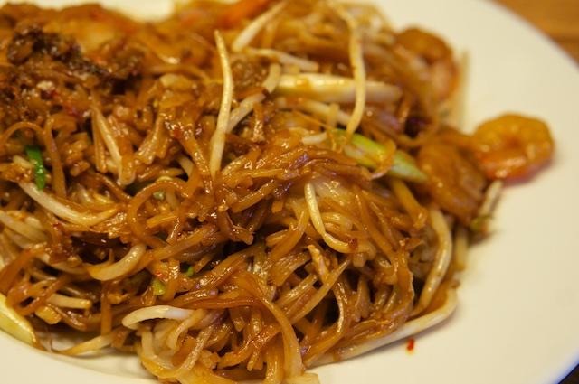Pfannengerührte Reisnudeln mit Shrimps