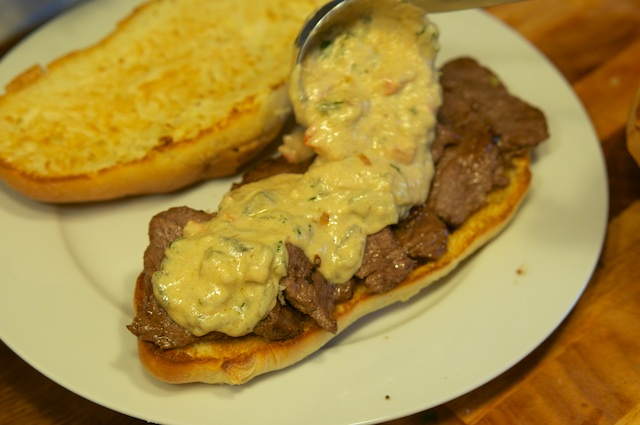 Green Chili Cheese Steak
