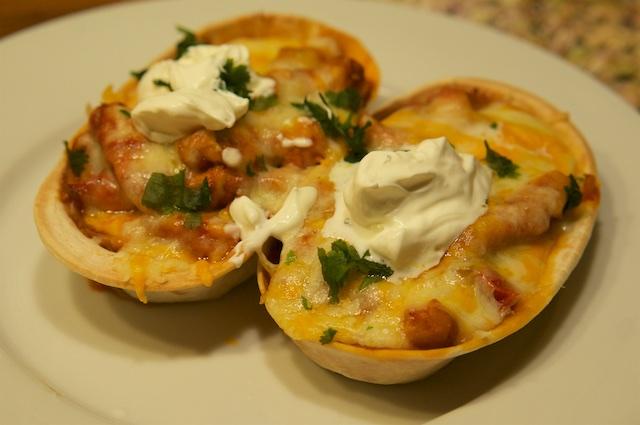Softshell-Tacos mit würzigem Hähnchen
